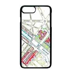 Paris Map Apple iPhone 7 Plus Seamless Case (Black) by Simbadda