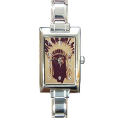 Indian Rectangle Italian Charm Watch by Simbadda