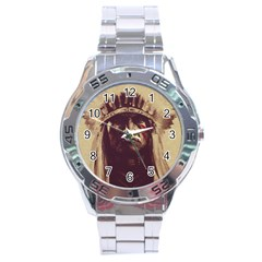 Indian Stainless Steel Analogue Watch by Simbadda