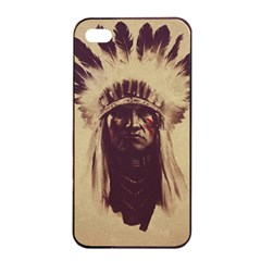 Indian Apple Iphone 4/4s Seamless Case (black) by Simbadda