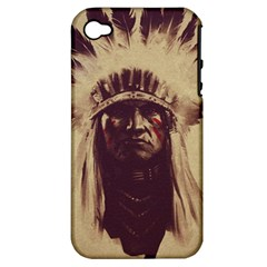 Indian Apple Iphone 4/4s Hardshell Case (pc+silicone) by Simbadda