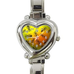 Insect Pattern Heart Italian Charm Watch by Simbadda