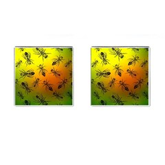 Insect Pattern Cufflinks (square) by Simbadda