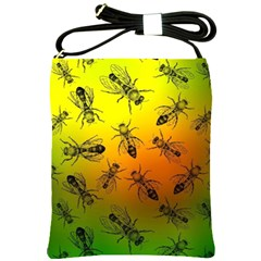 Insect Pattern Shoulder Sling Bags by Simbadda