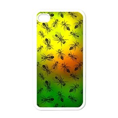 Insect Pattern Apple Iphone 4 Case (white) by Simbadda