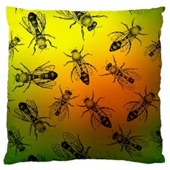 Insect Pattern Large Cushion Case (one Side) by Simbadda