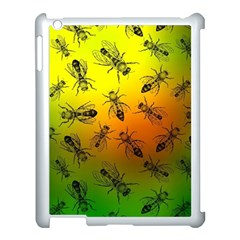 Insect Pattern Apple Ipad 3/4 Case (white) by Simbadda