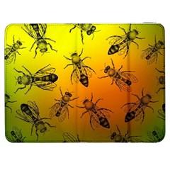 Insect Pattern Samsung Galaxy Tab 7  P1000 Flip Case by Simbadda