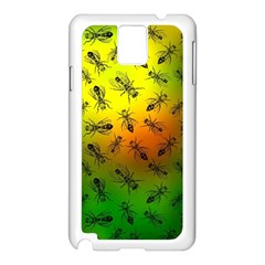 Insect Pattern Samsung Galaxy Note 3 N9005 Case (white) by Simbadda
