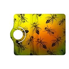 Insect Pattern Kindle Fire Hd (2013) Flip 360 Case by Simbadda