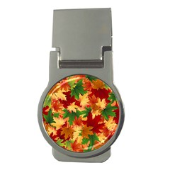 Autumn Leaves Money Clips (round)  by Simbadda