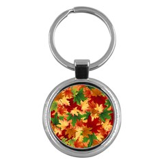 Autumn Leaves Key Chains (round)  by Simbadda