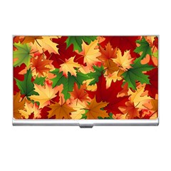 Autumn Leaves Business Card Holders by Simbadda