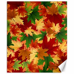 Autumn Leaves Canvas 8  X 10  by Simbadda