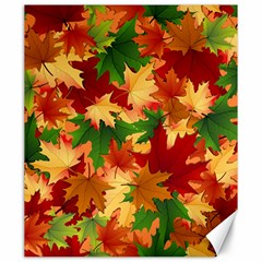Autumn Leaves Canvas 20  X 24   by Simbadda