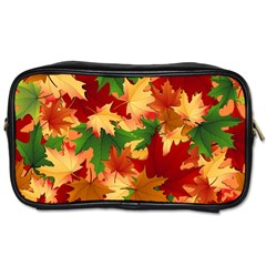 Autumn Leaves Toiletries Bags by Simbadda
