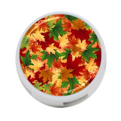 Autumn Leaves 4 Port Usb Hub (two Sides)  by Simbadda
