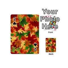 Autumn Leaves Playing Cards 54 (mini)  by Simbadda