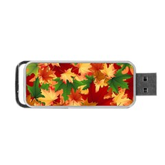 Autumn Leaves Portable Usb Flash (two Sides) by Simbadda