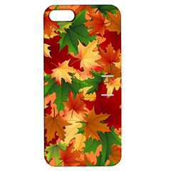 Autumn Leaves Apple Iphone 5 Hardshell Case With Stand by Simbadda