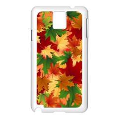 Autumn Leaves Samsung Galaxy Note 3 N9005 Case (white) by Simbadda