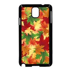 Autumn Leaves Samsung Galaxy Note 3 Neo Hardshell Case (black) by Simbadda