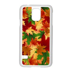 Autumn Leaves Samsung Galaxy S5 Case (white) by Simbadda