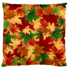 Autumn Leaves Standard Flano Cushion Case (two Sides) by Simbadda