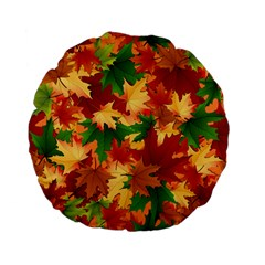 Autumn Leaves Standard 15  Premium Flano Round Cushions by Simbadda