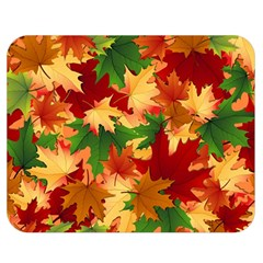 Autumn Leaves Double Sided Flano Blanket (medium)  by Simbadda