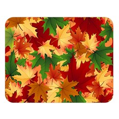 Autumn Leaves Double Sided Flano Blanket (large)  by Simbadda