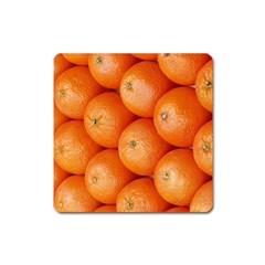 Orange Fruit Square Magnet by Simbadda