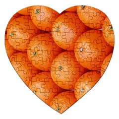 Orange Fruit Jigsaw Puzzle (heart) by Simbadda