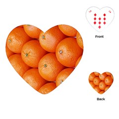Orange Fruit Playing Cards (heart)  by Simbadda