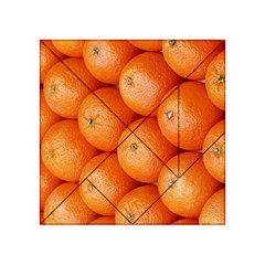 Orange Fruit Acrylic Tangram Puzzle (4  X 4 ) by Simbadda