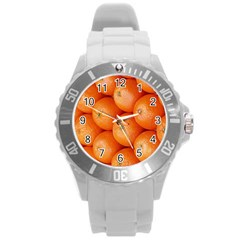 Orange Fruit Round Plastic Sport Watch (l) by Simbadda