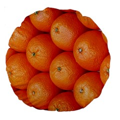 Orange Fruit Large 18  Premium Round Cushions by Simbadda