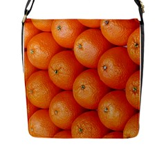 Orange Fruit Flap Messenger Bag (l)  by Simbadda