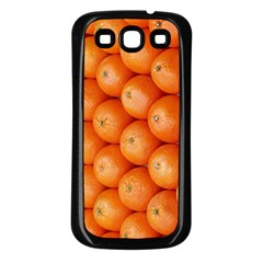 Orange Fruit Samsung Galaxy S3 Back Case (black) by Simbadda