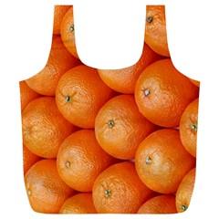 Orange Fruit Full Print Recycle Bags (l)  by Simbadda
