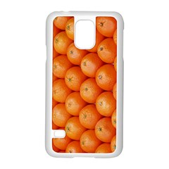 Orange Fruit Samsung Galaxy S5 Case (white) by Simbadda