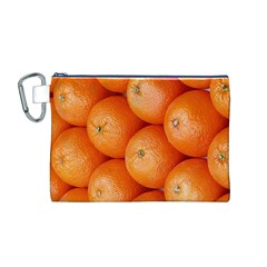 Orange Fruit Canvas Cosmetic Bag (m) by Simbadda