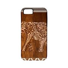 Elephant Aztec Wood Tekture Apple Iphone 5 Classic Hardshell Case (pc+silicone) by Simbadda