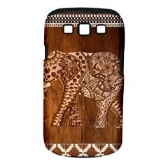 Elephant Aztec Wood Tekture Samsung Galaxy S Iii Classic Hardshell Case (pc+silicone) by Simbadda