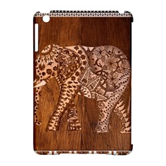 Elephant Aztec Wood Tekture Apple Ipad Mini Hardshell Case (compatible With Smart Cover) by Simbadda