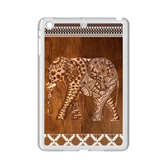 Elephant Aztec Wood Tekture Ipad Mini 2 Enamel Coated Cases by Simbadda
