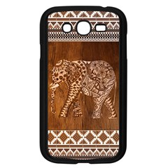 Elephant Aztec Wood Tekture Samsung Galaxy Grand Duos I9082 Case (black) by Simbadda