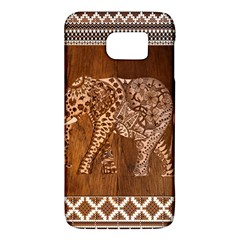 Elephant Aztec Wood Tekture Galaxy S6 by Simbadda