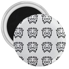 Animal Bison Grey Wild 3  Magnets by Alisyart