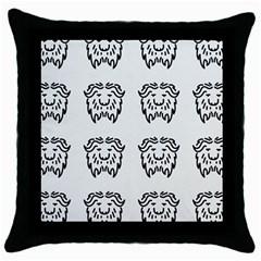 Animal Bison Grey Wild Throw Pillow Case (black) by Alisyart